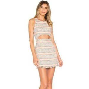 Lovers + Friends Crossroads Tweed Cutout Dress